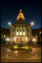Colorado State Capitol at night. Denver, Colorado, USA ( color)