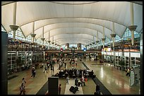 Main concourse, Denver International Airport. Denver, Colorado, USA ( color)