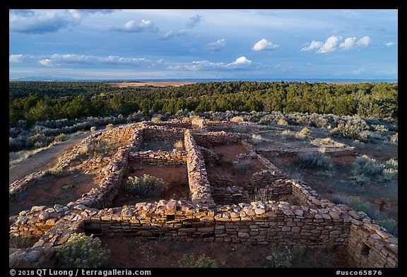 Lowry Pueblo. Canyon of the Ancients National Monument, Colorado, USA (color)