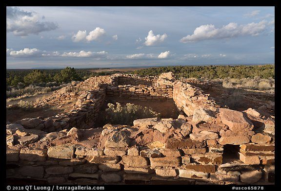 Lowry Pueblo, late afternoon. Canyon of the Ancients National Monument, Colorado, USA (color)
