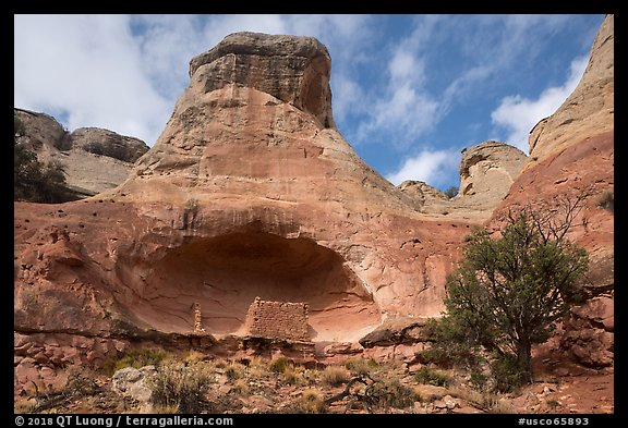 Saddlehorn Hamlet. Canyon of the Ancients National Monument, Colorado, USA (color)