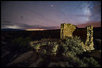 Tower Point at night. Hovenweep National Monument, Colorado, USA ( color)