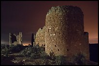 Hovenweep Castle at night. Hovenweep National Monument, Colorado, USA ( color)