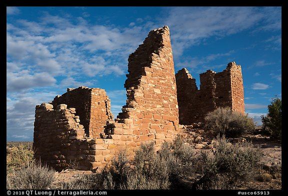 Hovenweep Castle. Hovenweep National Monument, Colorado, USA (color)