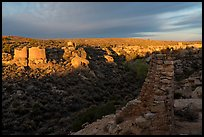Pueblo community from Canyon Overlook. Hovenweep National Monument, Colorado, USA ( color)
