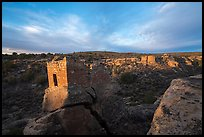 Stronghold House and Little Ruin Canyon. Hovenweep National Monument, Colorado, USA ( color)