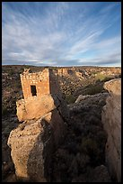 Stronghold House on rim of Little Ruin Canyon. Hovenweep National Monument, Colorado, USA ( color)