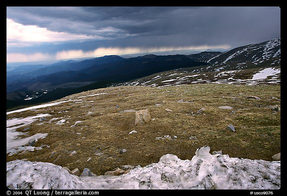Snow and tundra on Mt Evans. Colorado, USA (color)