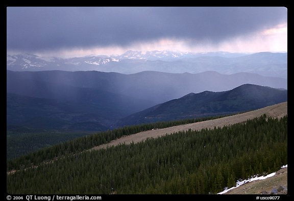 Storm, Mt Evans. Colorado, USA (color)