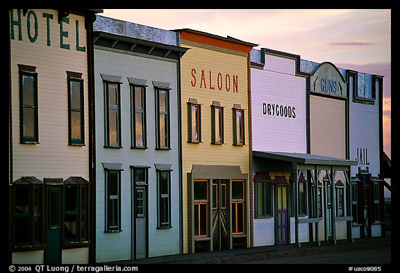Row of old west storefronts. Colorado, USA (color)