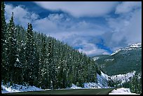Highway near the Continental Divide at Monarch Pass. Colorado, USA