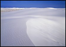 White sand dunes. White Sands National Monument, New Mexico, USA (color)