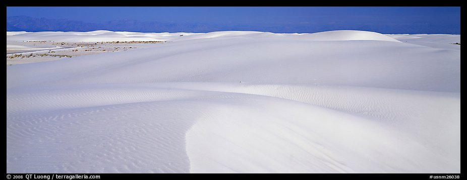 White sand dunes landscape. White Sands National Monument, New Mexico, USA (color)