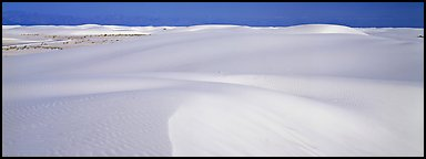 White sand dunes landscape. White Sands National Monument, New Mexico, USA (Panoramic color)