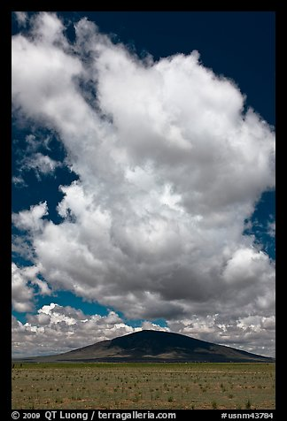 Afternoon cloud above hill. New Mexico, USA (color)