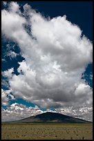 Afternoon cloud above hill. New Mexico, USA ( color)