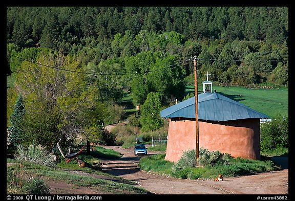 Village church. New Mexico, USA
