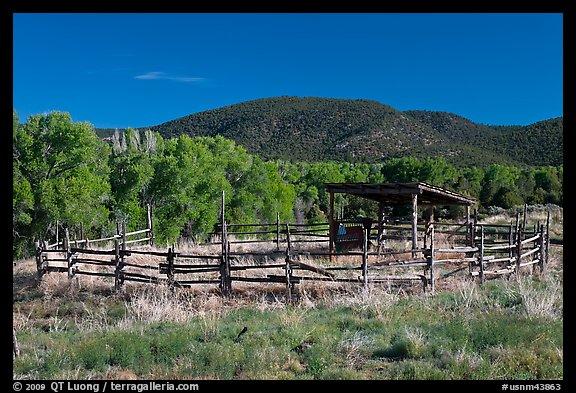 Cattle enclosure, Picuris Pueblo. New Mexico, USA (color)