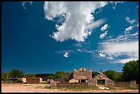 Picuris Pueblo and church. New Mexico, USA