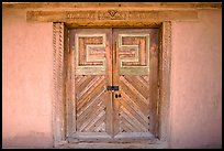 Door of San Jose de Gracia Church. New Mexico, USA