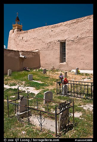 Cemetery, San Jose de Gracia church. New Mexico, USA (color)