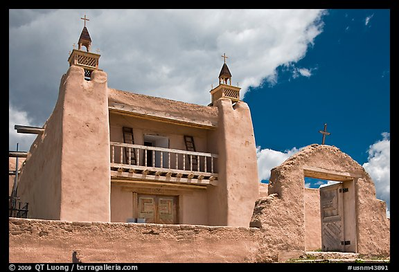Church of Santo Tomas Del Rio de Las Trampas. New Mexico, USA (color)