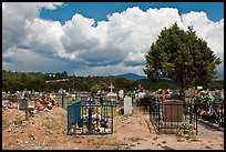 Fenced tombs, Truchas. New Mexico, USA ( color)