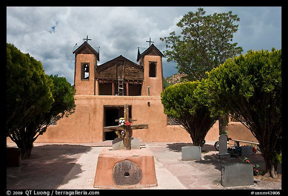 Church, Sanctuario de Chimayo. New Mexico, USA (color)