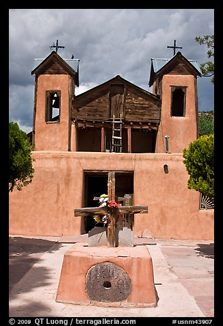 Chapel, Chimayo sanctuary. New Mexico, USA (color)