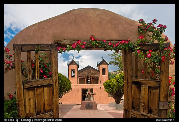 Chimayo Shrine. New Mexico, USA (color)
