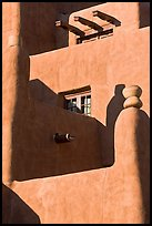 Detail of pueblo style of architecture, Loreto Inn. Santa Fe, New Mexico, USA ( color)