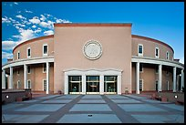 The Roundhouse (New Mexico Capitol). Santa Fe, New Mexico, USA (color)