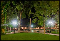 Park on the Plazza by night. Santa Fe, New Mexico, USA (color)