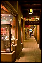 Gallery and columns by night. Santa Fe, New Mexico, USA ( color)