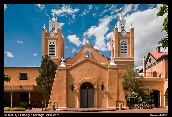 Church San Felipe de Neri. Albuquerque, New Mexico, USA (color)