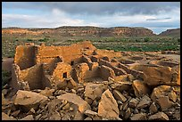 Great house, Pueblo Bonito. Chaco Culture National Historic Park, New Mexico, USA ( color)