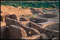 Rooms and kivas, Pueblo Bonito. Chaco Culture National Historic Park, New Mexico, USA ( color)