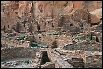 Many rooms of the Pueblo Bonito complex. Chaco Culture National Historic Park, New Mexico, USA ( color)
