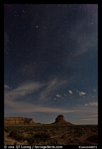 Stars over Fajada Butte. Chaco Culture National Historic Park, New Mexico, USA (color)