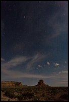 Stars over Fajada Butte. Chaco Culture National Historic Park, New Mexico, USA ( color)