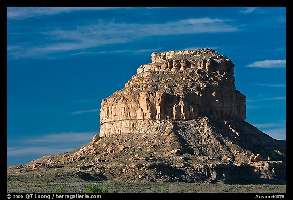 Fajada Butte, early morning. Chaco Culture National Historic Park, New Mexico, USA (color)