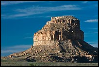 Fajada Butte, early morning. Chaco Culture National Historic Park, New Mexico, USA ( color)
