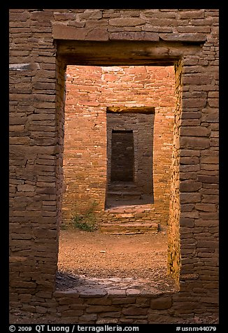 Chacoan doors. Chaco Culture National Historic Park, New Mexico, USA (color)
