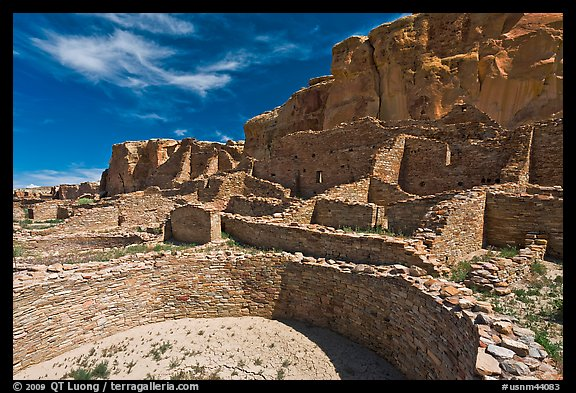 Ancient pueblo. Chaco Culture National Historic Park, New Mexico, USA (color)