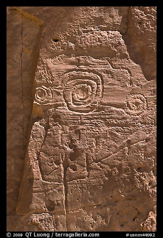 Rock art. Chaco Culture National Historic Park, New Mexico, USA (color)