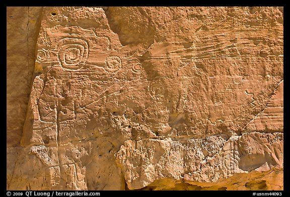 Pictographs. Chaco Culture National Historic Park, New Mexico, USA (color)