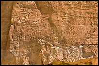 Pictographs. Chaco Culture National Historic Park, New Mexico, USA ( color)