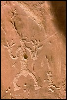 Rock graphics of a man. Chaco Culture National Historic Park, New Mexico, USA ( color)