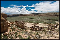 Pueblo Bonito from above. Chaco Culture National Historic Park, New Mexico, USA ( color)