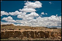 Cliff and clouds. Chaco Culture National Historic Park, New Mexico, USA ( color)